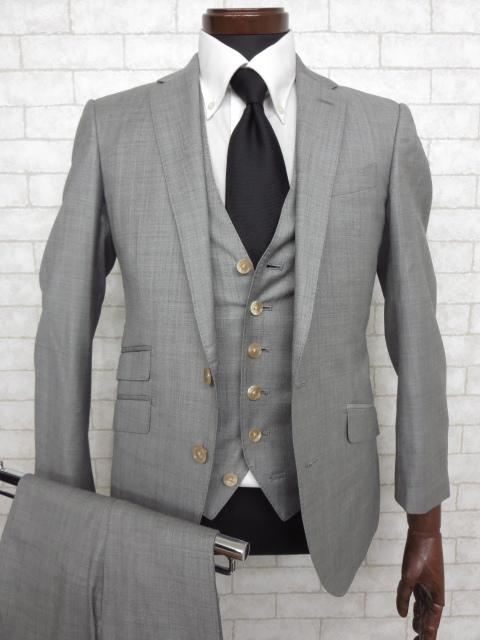 銀座グローバルスタイル GINZA Global Style カノニコ生地 カシミヤ混 3ピース 2パンツ スーツ 宅配買取にてお買取り♪