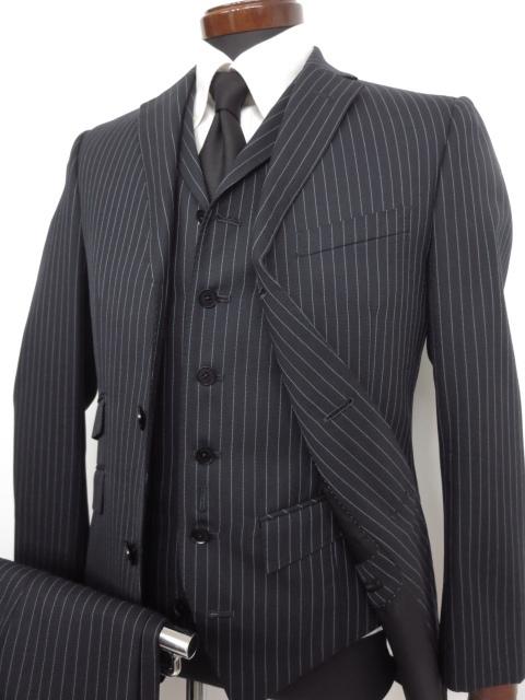 バーバリーブラックレーベル BURBERRY BLACK LABEL ストライプ シングル 3ピース スーツ ご来店のお客様よりお買取り♪
