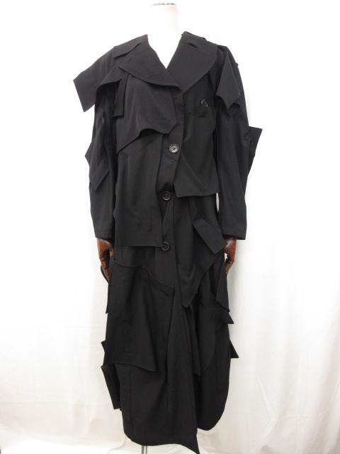 ヨウジヤマモト yohji yamamoto 19-20AW コレクション着用モデル ステッチパネルコート ご来店のお客様よりお買取り♪